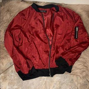Dark red lightweight Bomber jacket